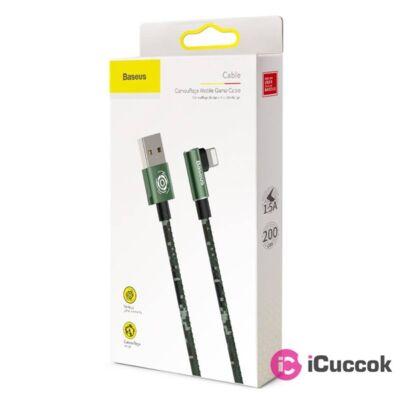 Baseus Camouflage 2m 1,5A zöld Lightning USB kábel