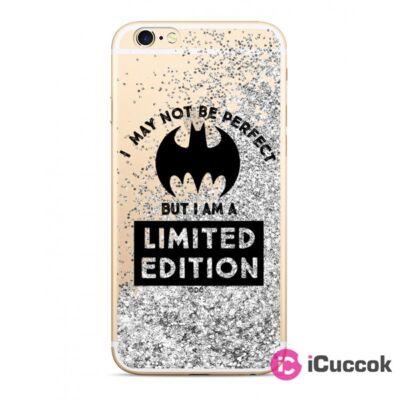 Bat Girl 007 iPhone X/XS csillámos folyadékos ezüs hátlap