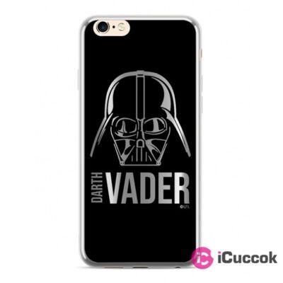 Darth Vader 010 ezüst iPhone X/XS szilikon hátlap
