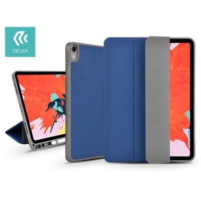"""Devia ST319037 Leather iPad Pro 11"""" 2018 kék védőtok"""