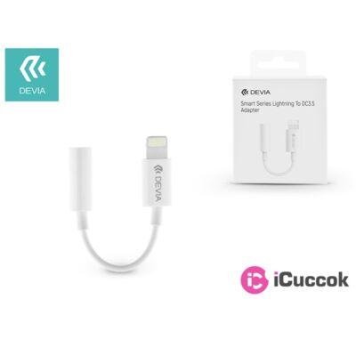Devia ST324550 Smart fehér Lightning - 3.5mm fülhallgató adapter