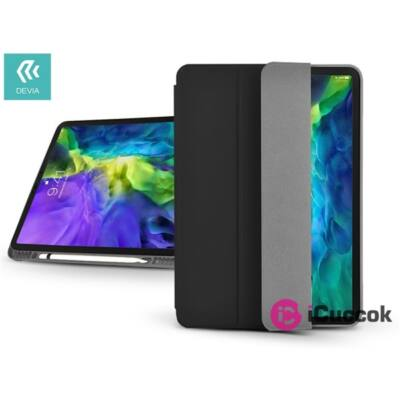 """Devia ST326455 Apple iPad Pro 10,5""""/iPad Air (2019) fekete bőr védőtok"""