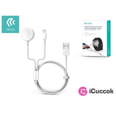 Devia ST326844 Devia Smart 2in1 két készülék egyidejű töltéséhez Apple iWatch/iPhone Lightning töltőkábel