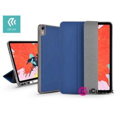 """Devia ST334078 Apple iPad 10,2""""(2019/2020) kék bőr védőtok"""