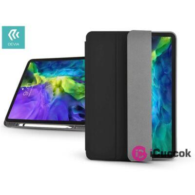 Devia ST334672 Apple iPad Pro 11 (2020) fekete bőr védőtok