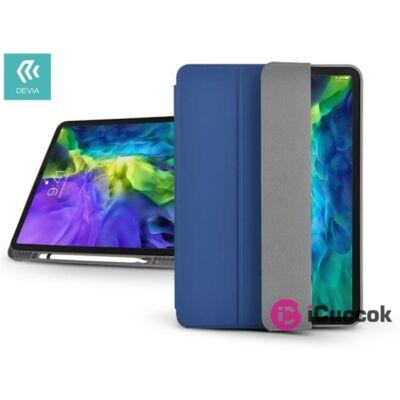 Devia ST334689 Apple iPad Pro 11 (2020) kék bőr védőtok