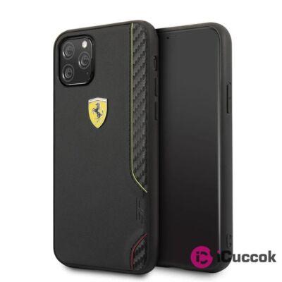 FERRARI On Track iPhone 11 Pro Max fekete puha PU gumitok