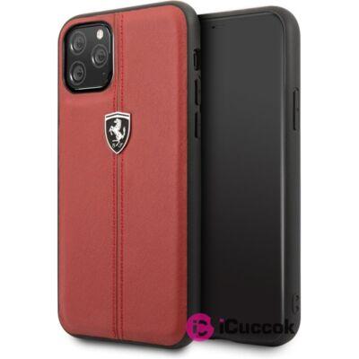 FERRARI iPhone 11 Pro függőlegesen csíkozott piros keménytok