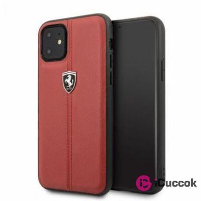 FERRARI iPhone 11 függőlegesen csíkozott piros keménytok