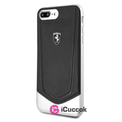 Ferrari Heritage iPhone 8 Plus kemény csíkos fekete tok