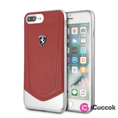 Ferrari Heritage iPhone 8 Plus ezüs/piros kemény tok