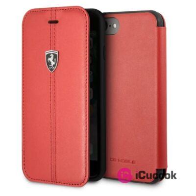 Ferrari Heritage iPhone 8 kihajtható piros csíkos tok