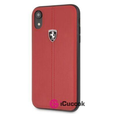Ferrari Heritage iPhone XR kemény csikos piros tok