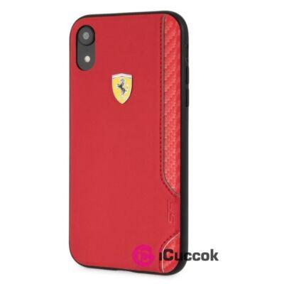 Ferrari On-Track Racing Shield iPhone XR puha gumi piros tok