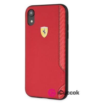 Ferrari On Track Racing Shield iPhone XR piros gumi tok