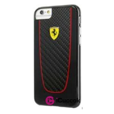 Ferrari SF Pit Stop iPhone 7 fekete valódi karbon tok