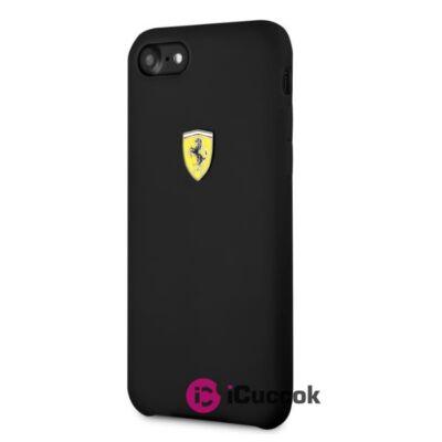 Ferrari SF iPhone 8 fekete szilikon tok