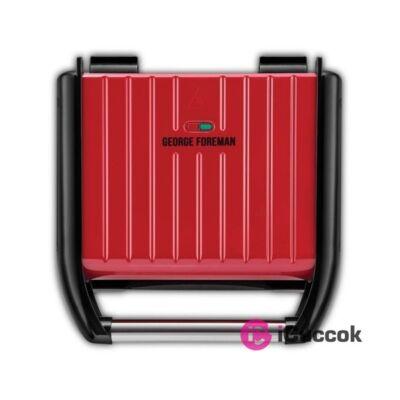 George Foreman 25040-56 Steel családi piros kontakt grill