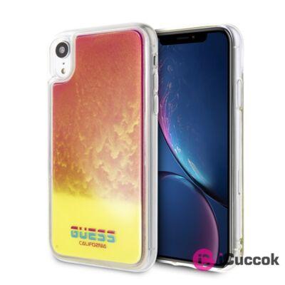 Guess iPhone XR sötétben világító homok pink tok