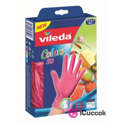 Vileda Color M/L méret 50db eldobható kesztyű