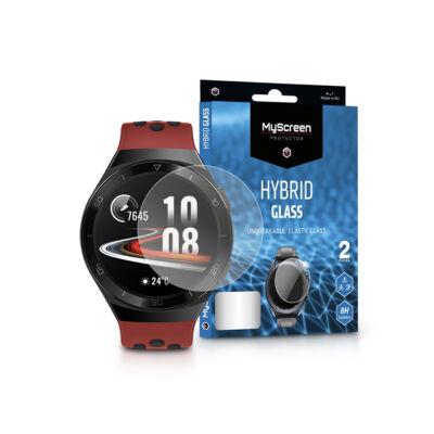 Huawei Watch GT 2E rugalmas üveg képernyővédő fólia - MyScreen Protector Hybrid Glass - 2 db/csomag - transparent