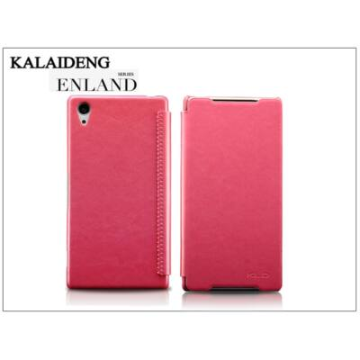 Sony Xperia Z2 (D6503) flipes tok - Kalaideng Enland Series - dark pink