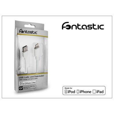 Apple iPhone 5/5S/5C/SE/iPad 4/iPad Mini USB töltő- és adatkábel - Lightning - 100 cm-es vezetékkel (Apple MFI engedélyes) - fehér