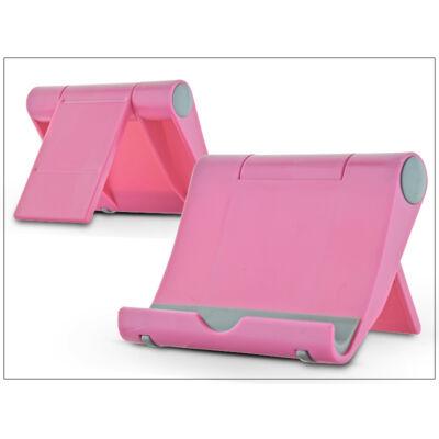 Univerzális asztali telefon + tablet tartó - pink