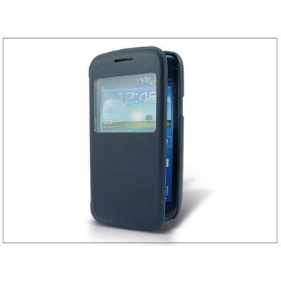 Samsung i8260 Galaxy Core S-View flipes tok - sötétkék