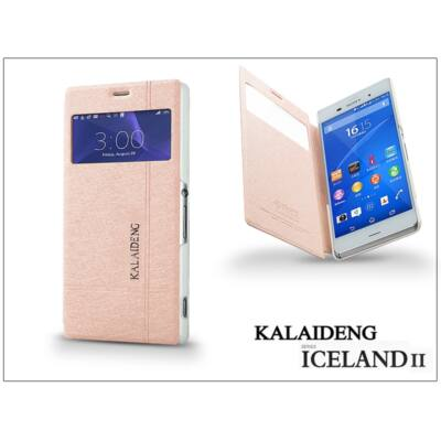 Sony Xperia Z3 (D6603) flipes tok - Kalaideng Iceland 2 Series View Cover - golden
