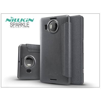 Microsoft Lumia 950 XL oldalra nyíló flipes tok - Nillkin Sparkle - fekete