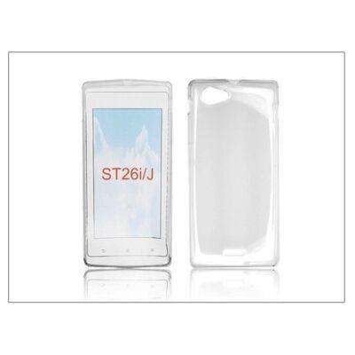 Sony Xperia J (ST26i) szilikon hátlap - Clear