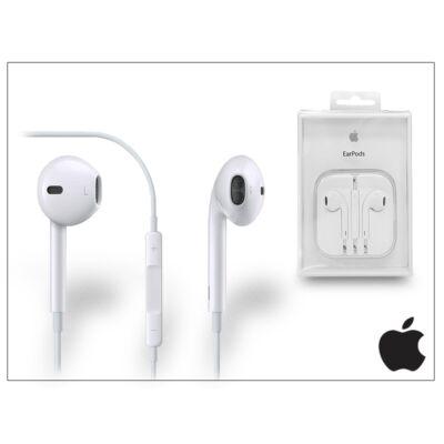 Apple iPhone 3G/3GS/4/4S/5/5S/5C/SE eredeti távirányítós, sztereó headset mikrofonnal - fehér - MD827ZM/A