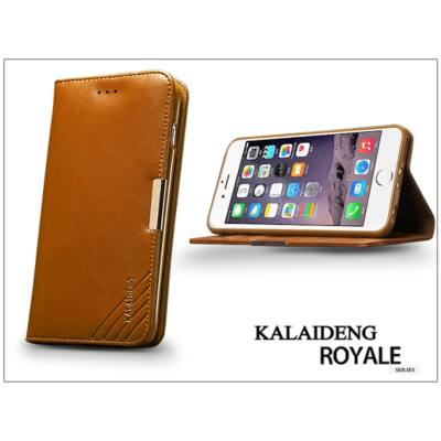Apple iPhone 6 Plus flipes tok kártyatartóval - Kalaideng Royale Series - brown
