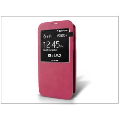 Samsung SM-G900 Galaxy S5 S-View flipes tok - pink