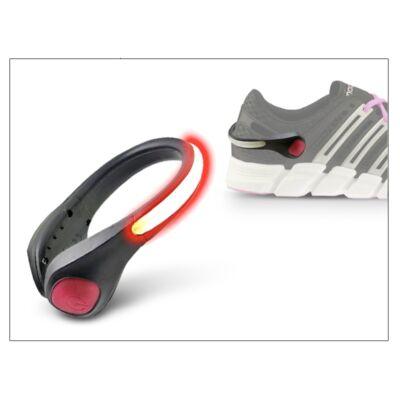 Cipőre szerelhető figyelemfelkeltő LED-es villogó - Safety LED Clip - red