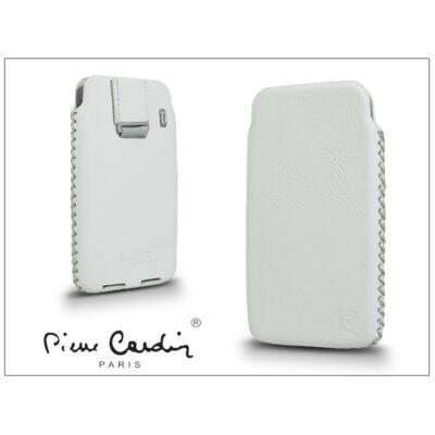 Pierre Cardin valódi bőrtok - Apple iPhone 4/4S - Type-1 - fehér