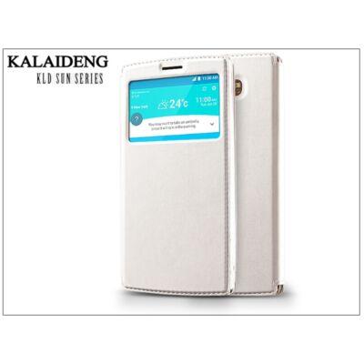 LG G4 H815 flipes tok - Kalaideng Sun Series View Cover - white