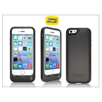 Apple iPhone 5/5S/SE ütésálló hátlapos akkumulátor - 2000 mAh - Otterbox Resurgence Power Case - black