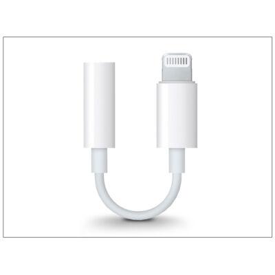 Apple eredeti lightning adapter 3,5 mm jack füllhallgatóhoz - MMX62ZM/A - fehér (ECO csomagolás)