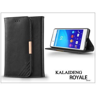 Sony Xperia Z3+/Z4 (E6553) flipes tok kártyatartóval - Kalaideng Royale II Series - black