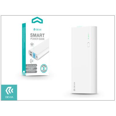 Univerzális hordozható, asztali akkumulátor töltő - Devia Smart Lightning 2.4A Power Bank - 10.000 mAh - white