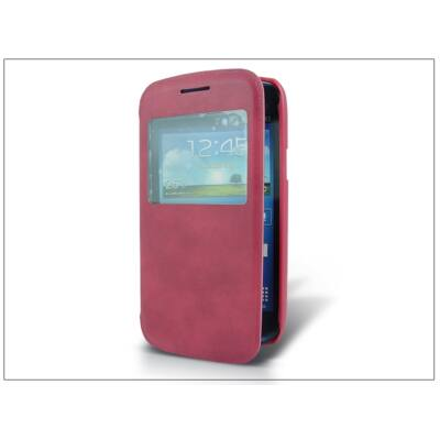 Samsung i8260 Galaxy Core S-View flipes tok - pink