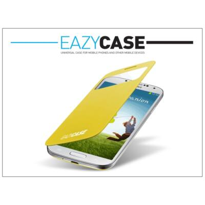 Samsung i9500 Galaxy S4 S View Cover flipes hátlap on/off funkcióval - EF-CI950BYEGWW utángyártott - yellow