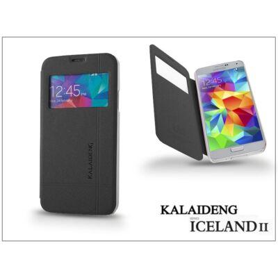 Samsung SM-G900 Galaxy S5 flipes tok - Kalaideng Iceland 2 Series View Cover - black