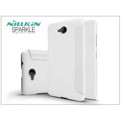 Microsoft Lumia 650 oldalra nyíló flipes tok - Nillkin Sparkle - fehér