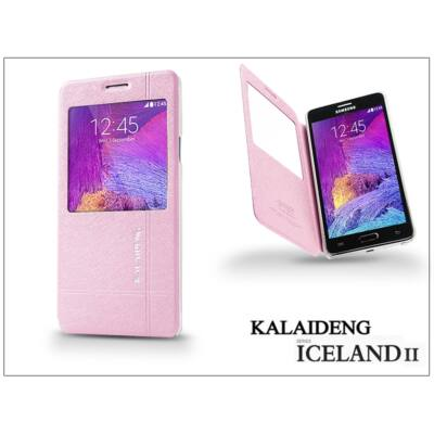 Samsung SM-N910 Galaxy Note 4 flipes tok - Kalaideng Iceland 2 Series View Cover - pink
