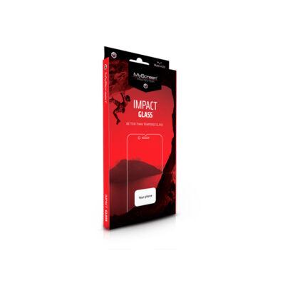 Apple iPhone XR/11 edzett üveg képernyővédő fólia - MyScreen Protector Impact Glass Edge hajlított 3D Fullcover - fekete