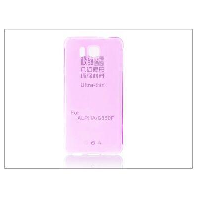 Samsung SM-G850 Galaxy Alpha szilikon hátlap - Ultra Slim 0,3 mm - pink