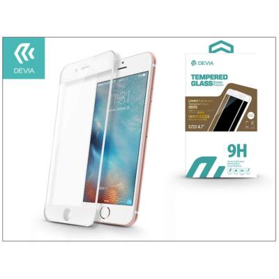 Apple iPhone 6/6S üveg képernyő- + Crystal hátlapvédő fólia - Devia Jade 2 Full Screen Tempered Glass Glossy - 1 + 1 db/csomag - white